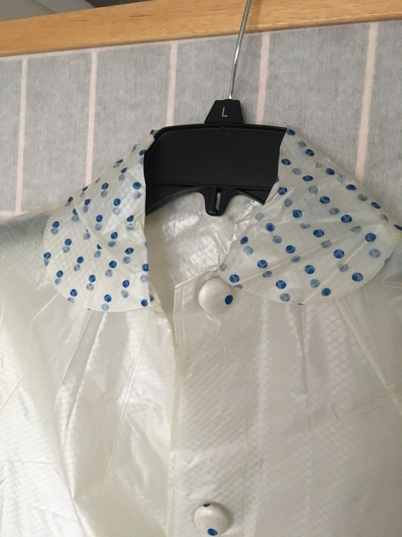 Vintage 1960's Clear White Child's Raincoat with … - image 3