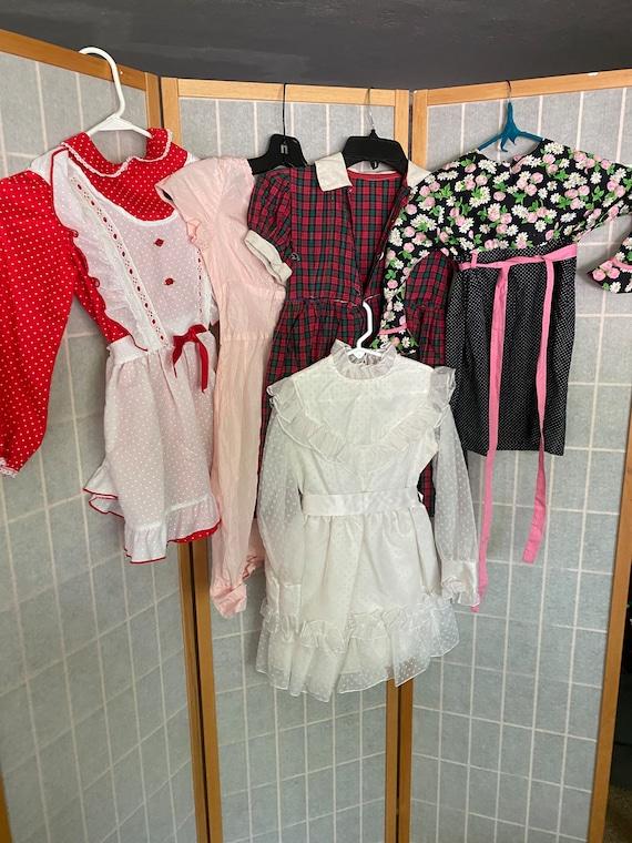 Lot of 5 Vintage Little Girl's Dresses, 1950's 194