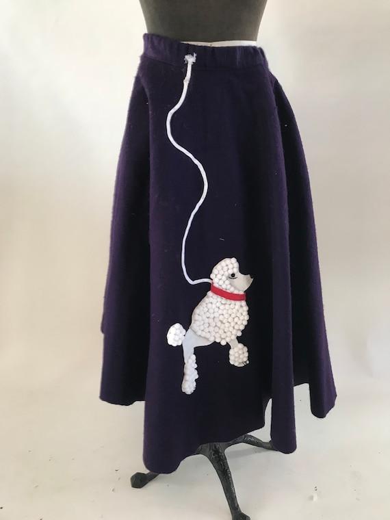 Vintage 1980s costume purple poodle skirt