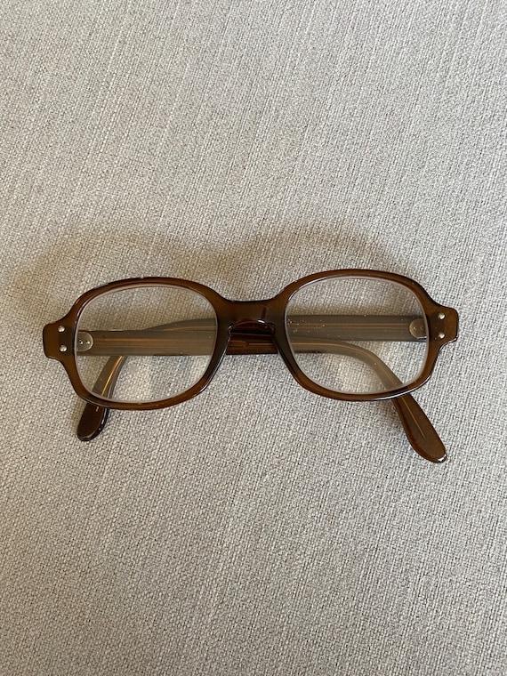 Vintage 1960's Brown Eyeglasses