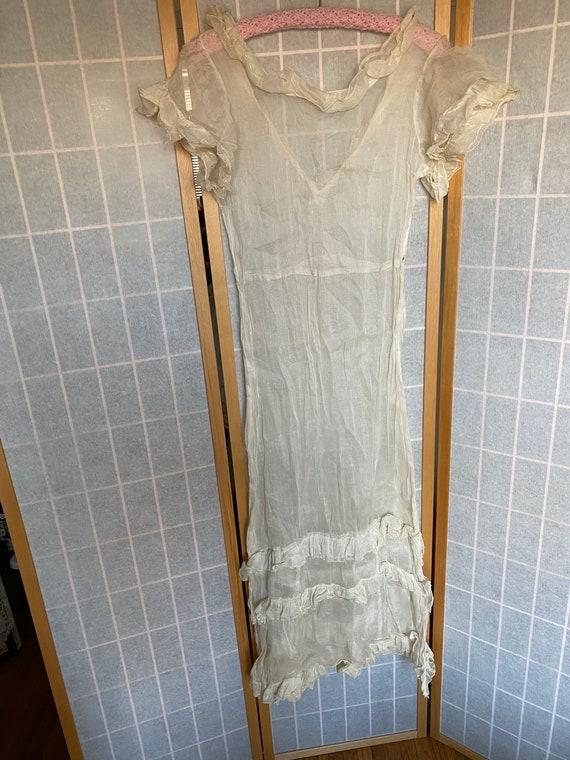 Vintage Antique Edwardian Victorian Sheer White La
