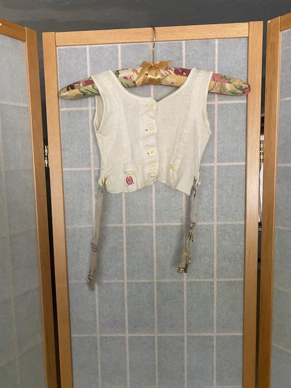 Vintage antique kids underwear shirt with garters