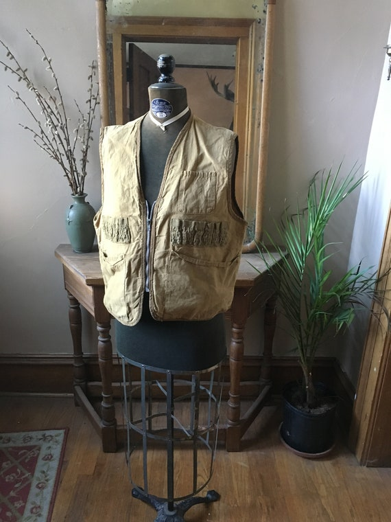 Vintage Tan Hunting and Fishing Vest