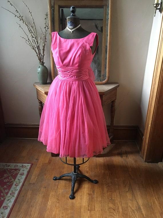 Vintage 1950's Pink Lovely Full Ballerina Dress