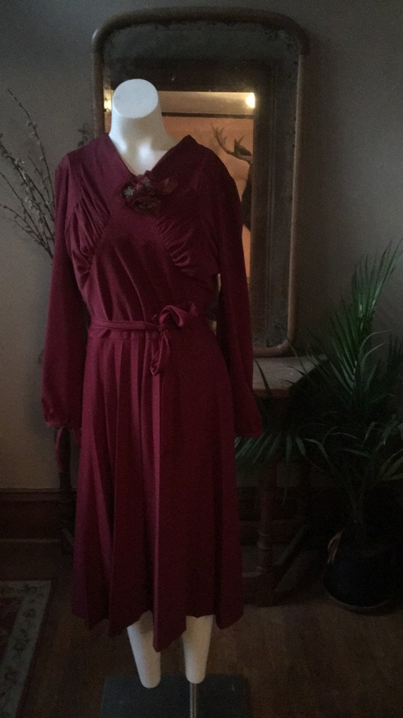 Vintage Deep Burgundy/ Purple Dress