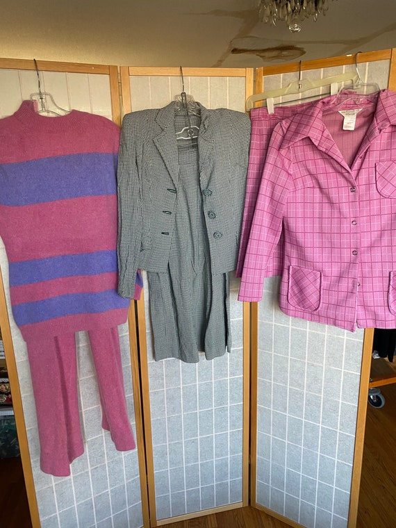 Vintage Lot of 3 Skirt and Pant Suit Sets, 1940's