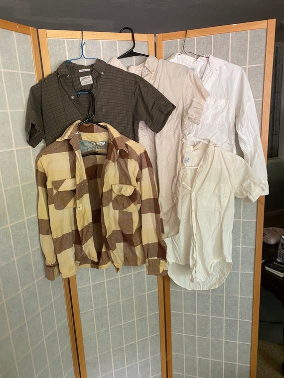 Vintage Lot of 5 1950's Boys Shirts, Button ups