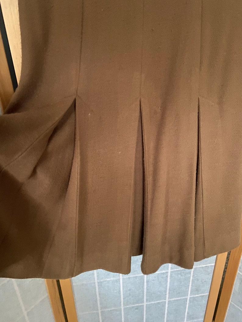 Vintage 1960\u2019s 1970\u2019s brown long sleeve Vicky Vaughn dress