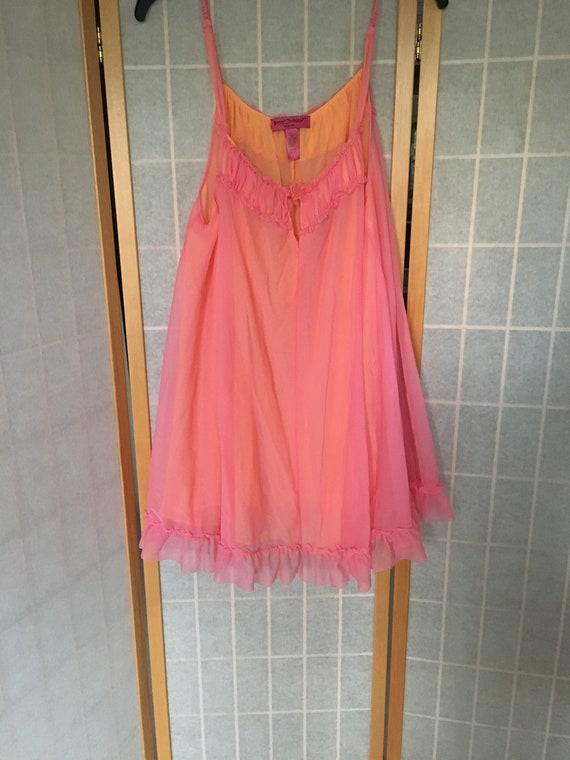 Vintage 1990's Betsy Johnson BJ Pink and Orange Ba