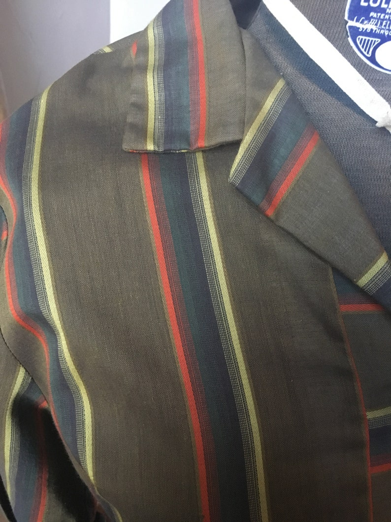 Orange Striped T-Shirt Dress Vintage 1960/'s Brown