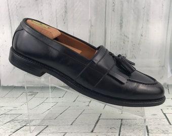 4a2bd2d803c Allen Edmonds Newport Men s Leather Tassel Slip On Loafers Black Size 12B
