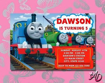 Thomas Train Birthday Invitation