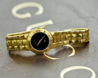 434163c2502 Authentic Vintage Gold Tone Gucci Ladies Watch 3300L