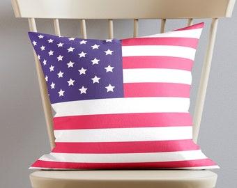 USA flag pillow, American's symbol