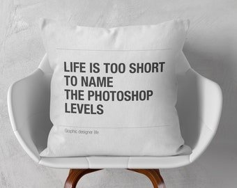 Photoshop pillow for graphic designer
