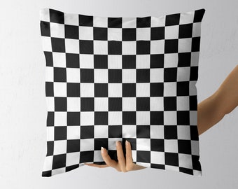 Pillow with checkered pattern