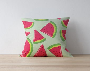 Summer room decor pillow with watermelon