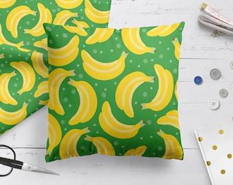 Kids room decor pillow with bananas