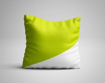 Chartreuse pillow for modern home decor lovers