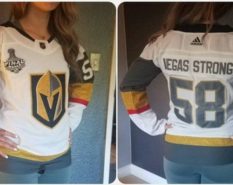 WOMEN S Size MEDIUM White Away Las Vegas Golden Knights
