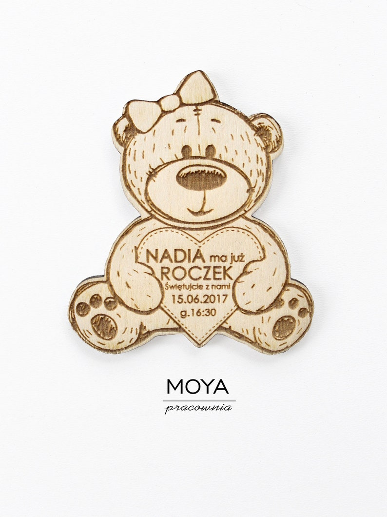 Birthday Invitations Teddy Bear Magnet Thank You