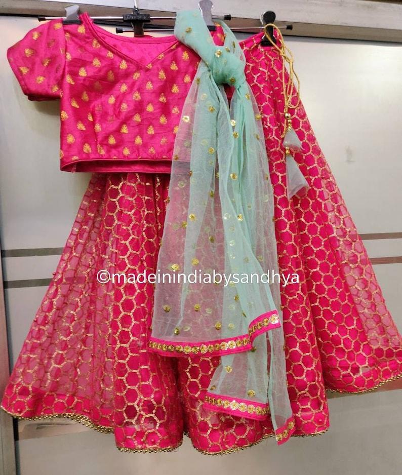 452f74d8b6 Kids lehenga choli dupatta Indian ethnic girls kids wedding | Etsy