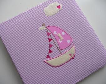 """Photo album """"Segelboot & Heart Cloud"""" pink"""