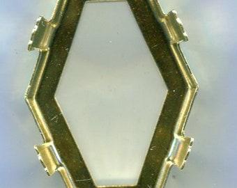 50 Bohemian Hexagon 6eck Beads 4.5mm White