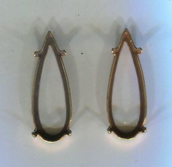 6 braune runde Frauenkopf-Gemmen 20mm