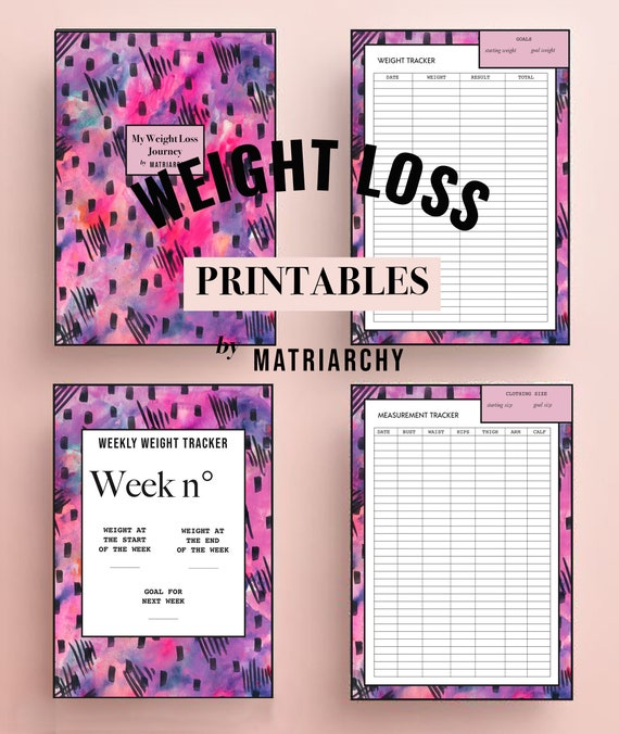 weight loss printable sleep tracker exercise tracker food etsy