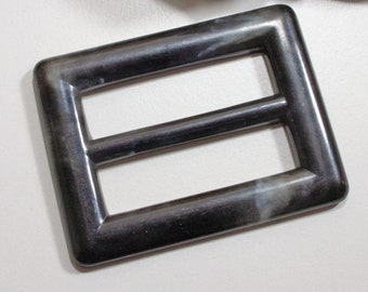 7df2e32ed915ce Gürtelschnalle 40mm in schwarz marmoriert, Schnalle, Vintage  Gürtelschließe, Kunststoffschnalle, Retro, Kleinigkeiten von NB