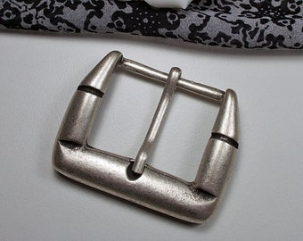 f8999e47f99f89 Gürtelschnalle 35mm, silberfarben, klassisch, schlicht, Buckle,  Gürtelschließe, Kleinigkeiten von NB