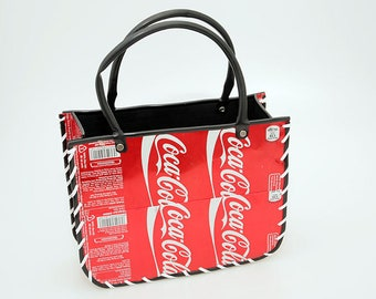 b67fbc8d5ed6 Recycled Tin Can Open bag Coke  Coca Cola