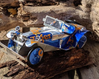 Recycled Tin Can Model: Large Tiger beer Classic car