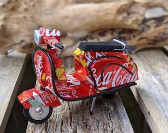 Recycled Tin Can Model: Coke /Large Coke Lambretta