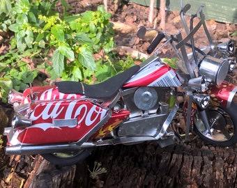 Recycled Tin Can Model: Coke / Coca-cola Harley Davidson