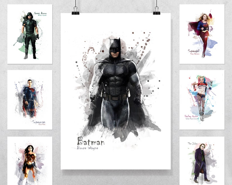 SUPERMAN DC Superhero Poster Picture Print Sizes A5 to A0 **FREE DELIVERY**