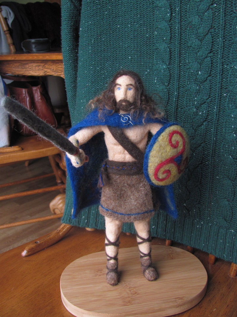 Felted Cú Chulainn Sculpture Irish Celtic Warrior Irish Etsy