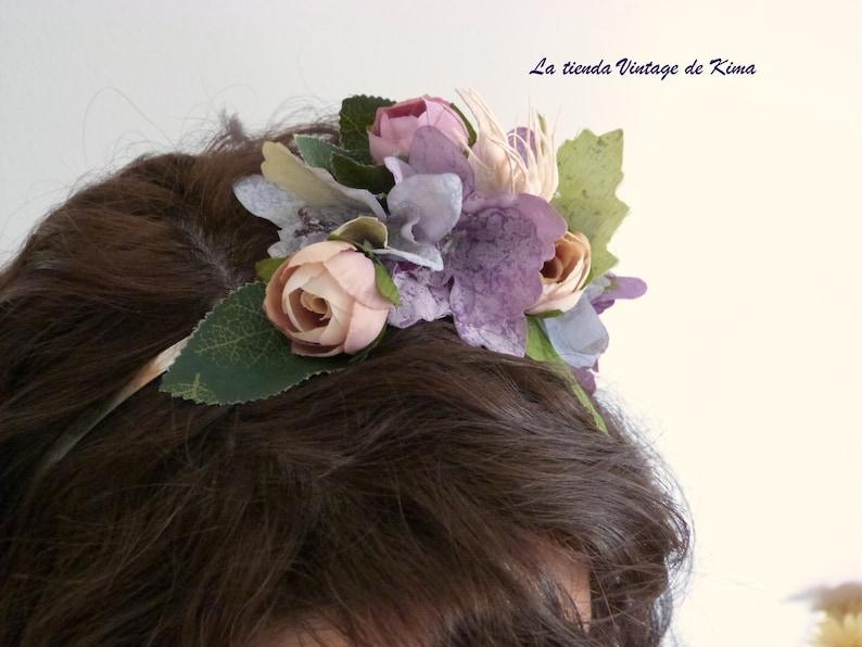 handmade tiara women tiara bridesmaids headband flower headband Flower tiara with fabric for brides perfect guest headband