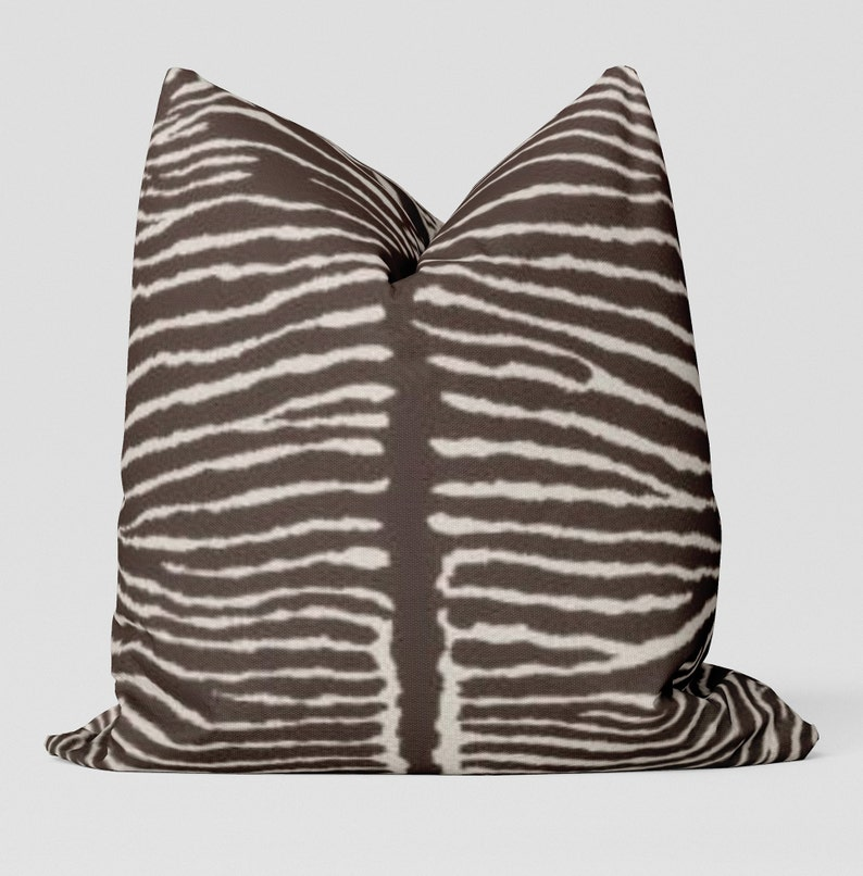 Le Zebra Pillow Brown image 0