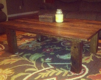 Custom Coffee Table Made From Repurposed Wood