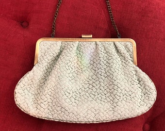 Sea foam green lace purse boho purse shabby chic purse chain handle evening bag moda viajando