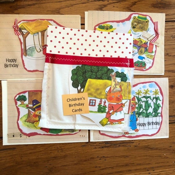 Lot Of Children S Birthday Cards Vintage Children S Birthday Cards Repurpose Children S Books Birthday Cards Homemade Birthday Cards