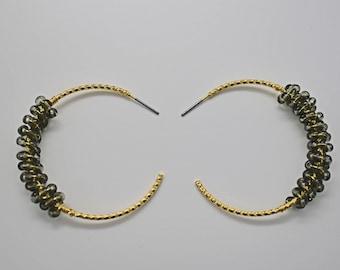 16K gold plated brass Side facing loop SME-05G Star earring post Geometric earring post Nickel free Silver post 2pcs Palladium