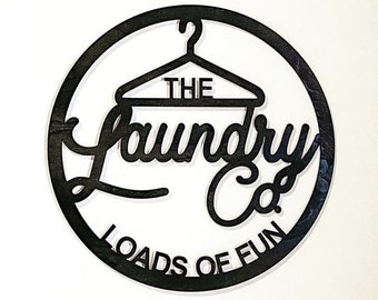 Laundry Room Sign/Laundry Co./Laser Cut Wood Sign/Loads of Fun/Funny Wood Sign