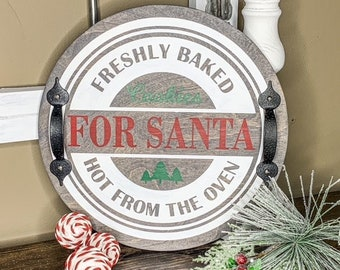 Cookies For Santa Tray/Wood Sign Tay/Holiday Decor/Christmas Decorations