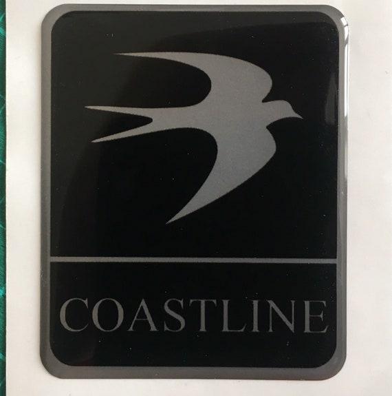 SCOOBY DESIGNS Swift wheel centre cap caravan motorhome circular bird logo badge 60mm Black And silver x2