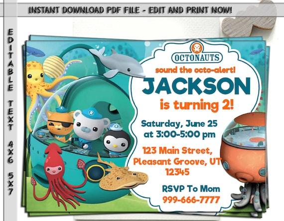 Octonauts Invitation Octonauts Birthday Octonauts Party Etsy