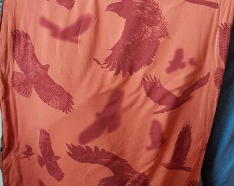 4d18c4215e53 Terry Français en terre cuite bordeaux oiseaux de proie