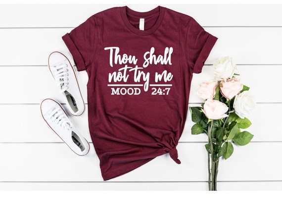 Free Shipping Love Mom Shirt Mom Life Gift for Mom Funny Mothers Day Shirt THOU SHALL NOT Try Me shirt